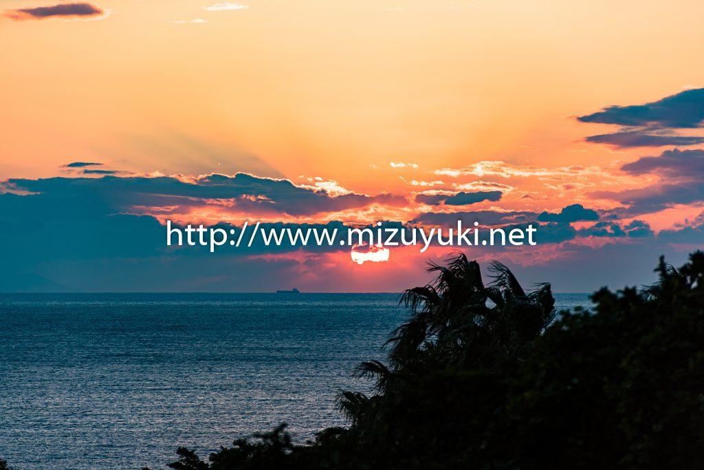 長崎鼻の夕陽